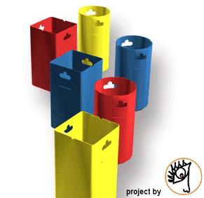 Progetti design progetti contenitori per raccolta differenziata design projects recycling - Contenitori raccolta differenziata per casa ...